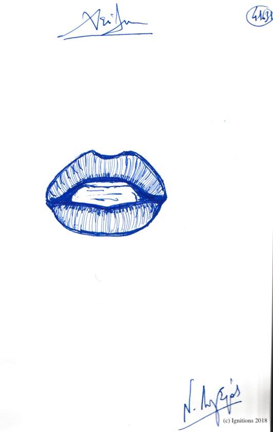 Χείλη. (Dessin)