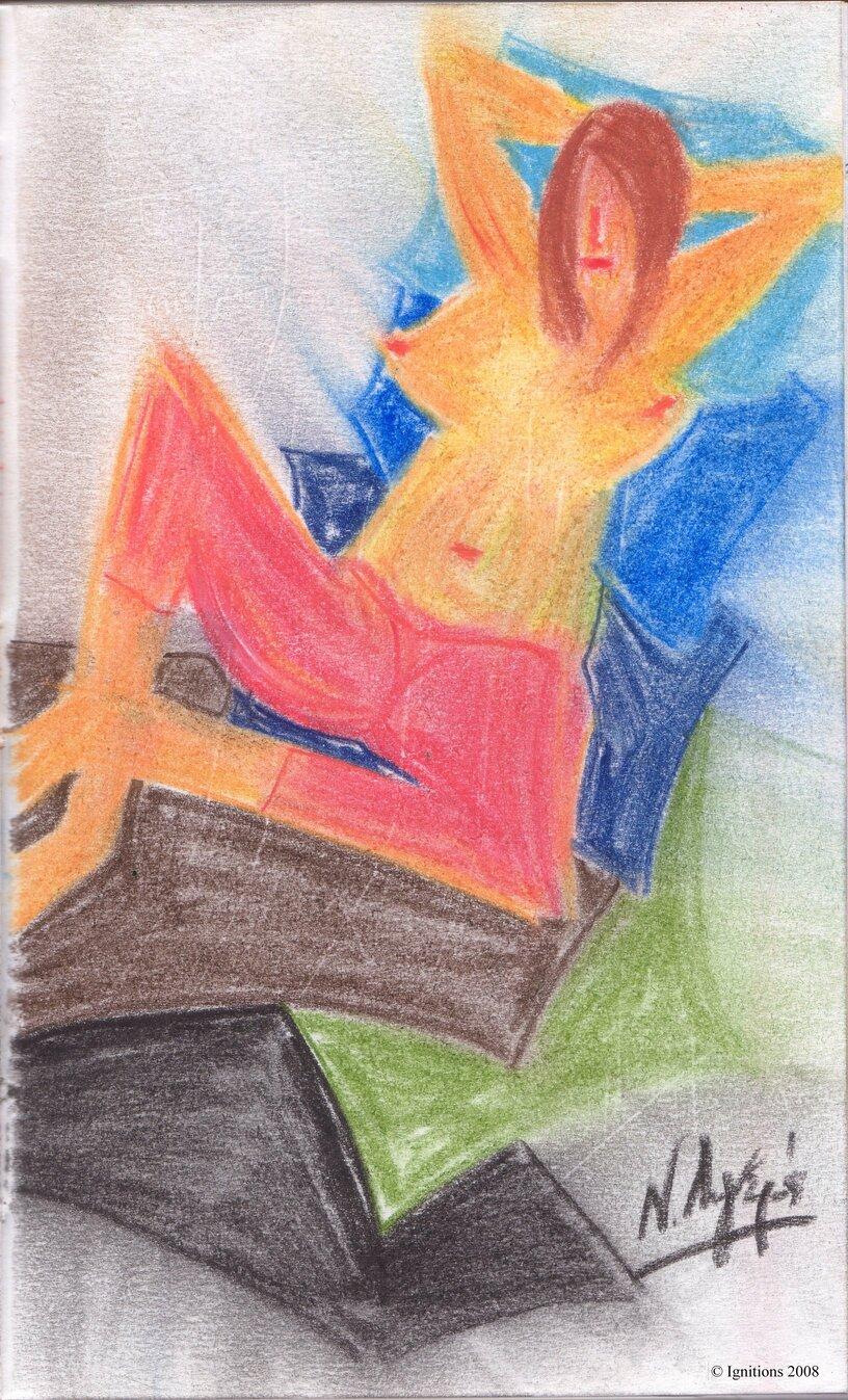 Etude sur un thème de Matisse.