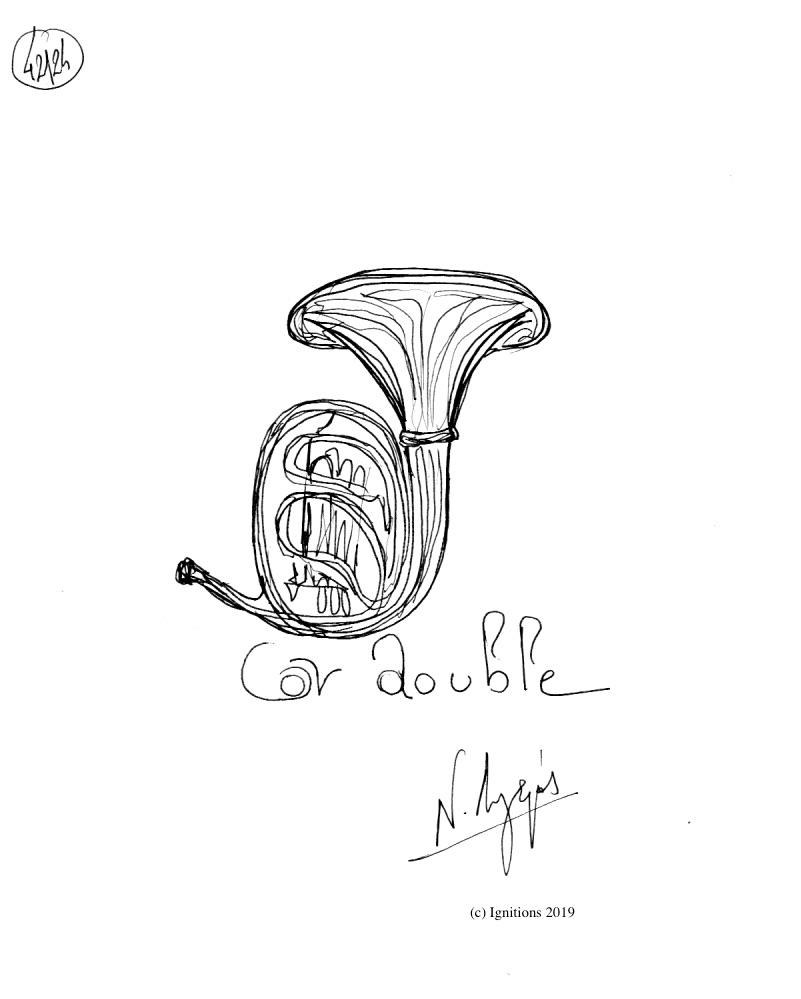 Cor double. (Dessin)