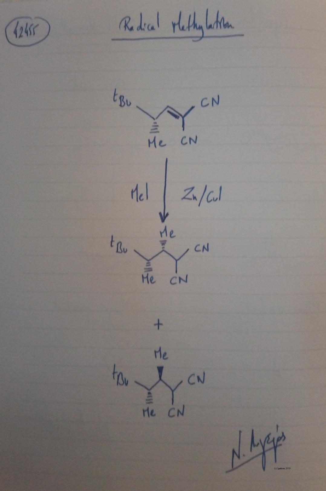 Radical Methylation. (Dessin)
