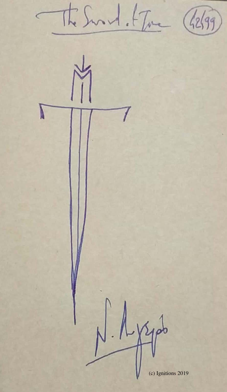 The Sword of Time. (Dessin)