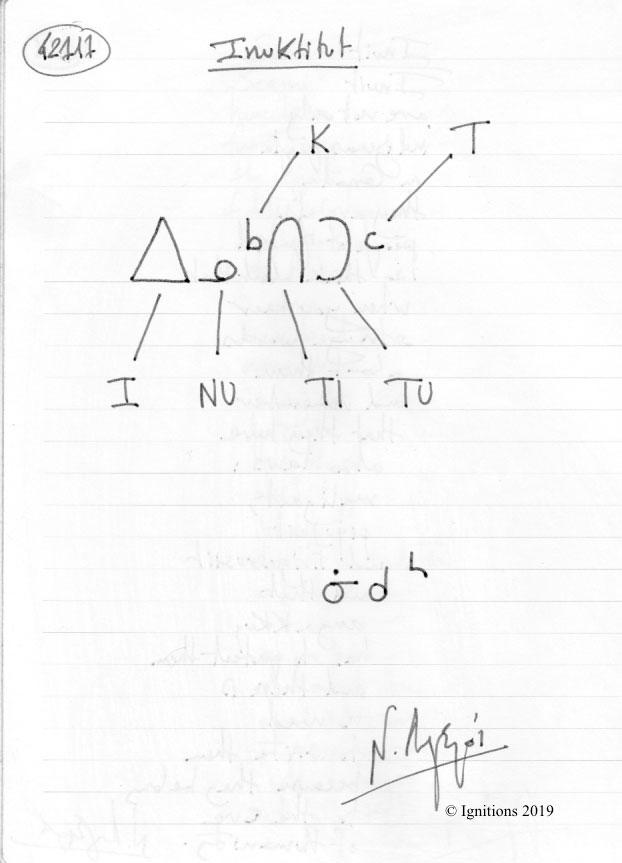 Inuktitut. (Dessin)
