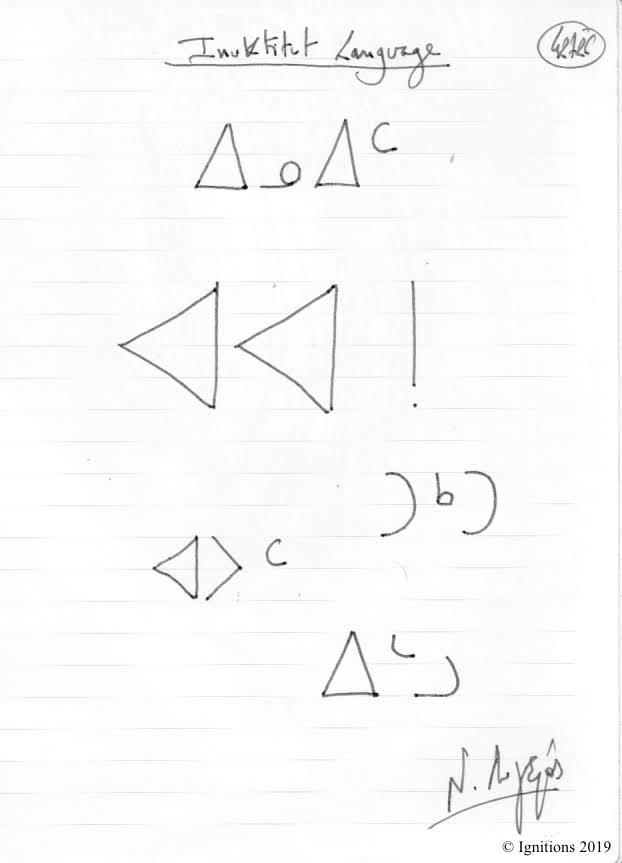 Inuktitut Language. (Dessin)