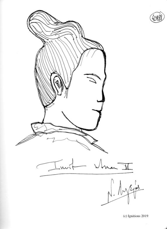Inuit women II. (Dessin)