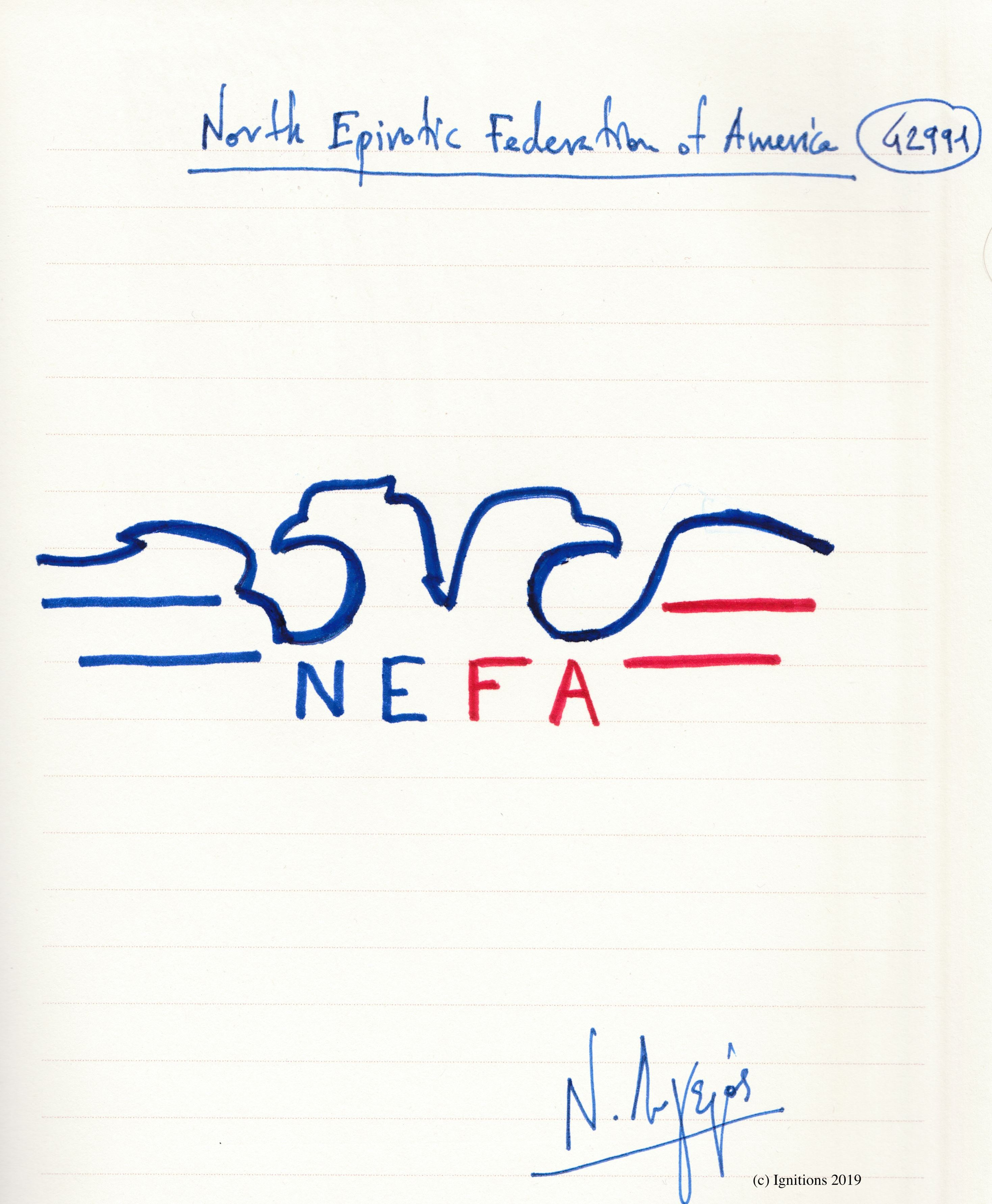 North Epirotic Federation of America. (Dessin)