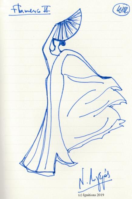 Flamenco II. (Dessin)