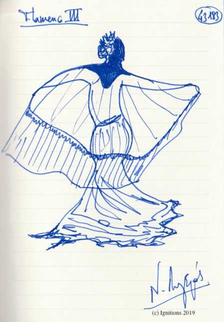 Flamenco III. (Dessin)
