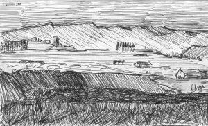 Esquisse pour un paysage de Vincent.
