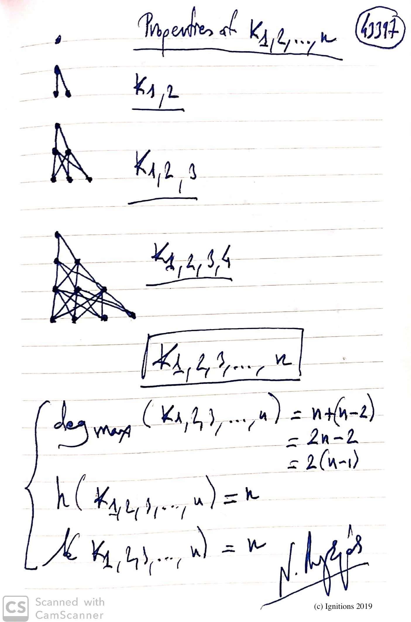 Properties of K1,2,...,n. (Dessin)