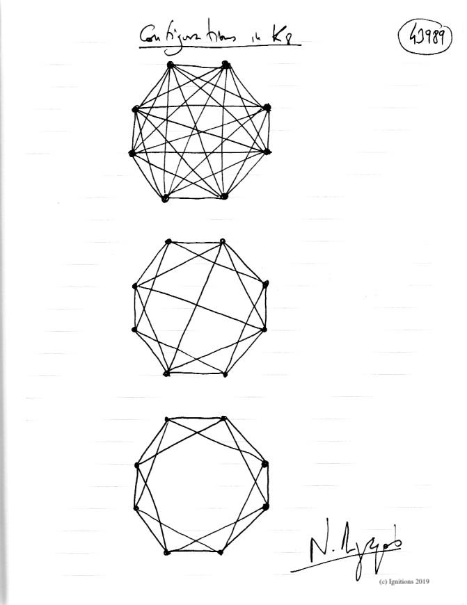 Configurations in K8. (Dessin)