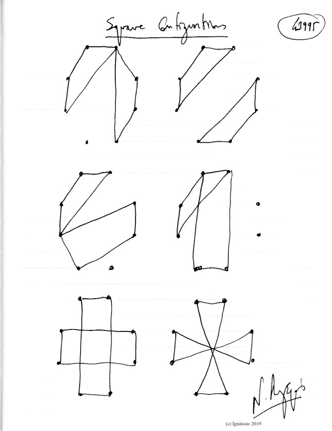 Square Configurations. (Dessin)