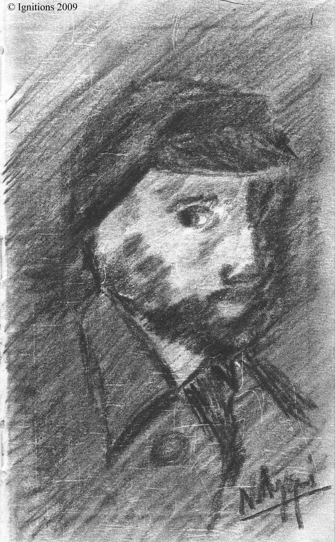 Autre esquisse d'autoportrait de Vincent.