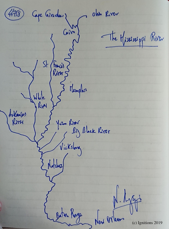 The Mississippi River. (Dessin)