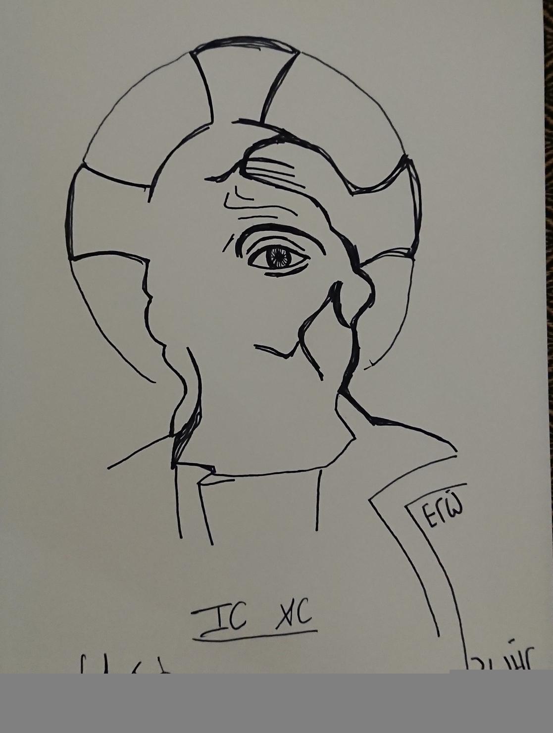 IC XC. (Dessin)