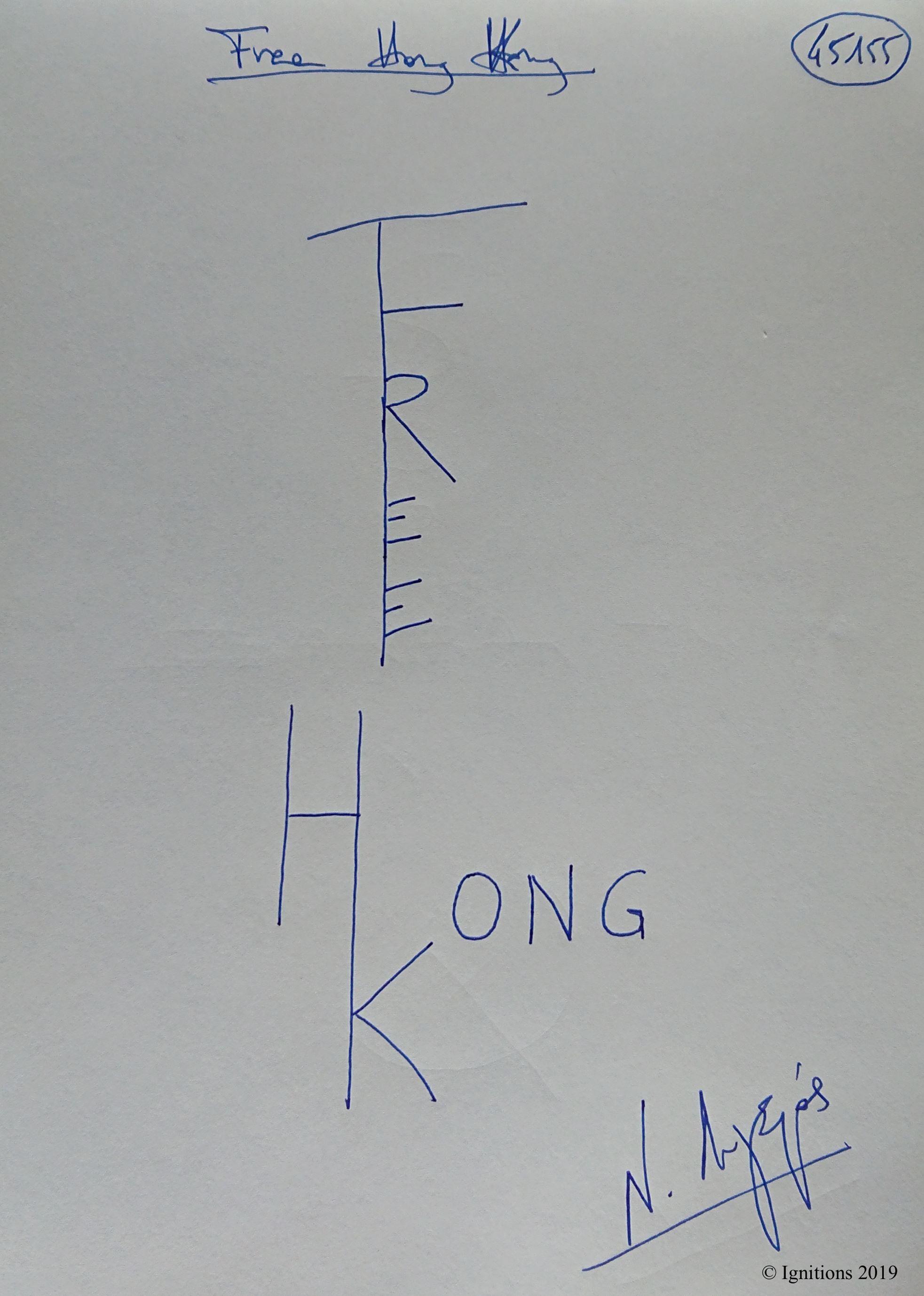 Free Hong Kong. (Dessin)