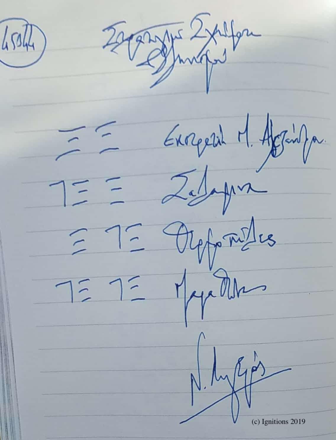 Στρατηγικά Σχήματα Ελληνισμού. (Dessin)