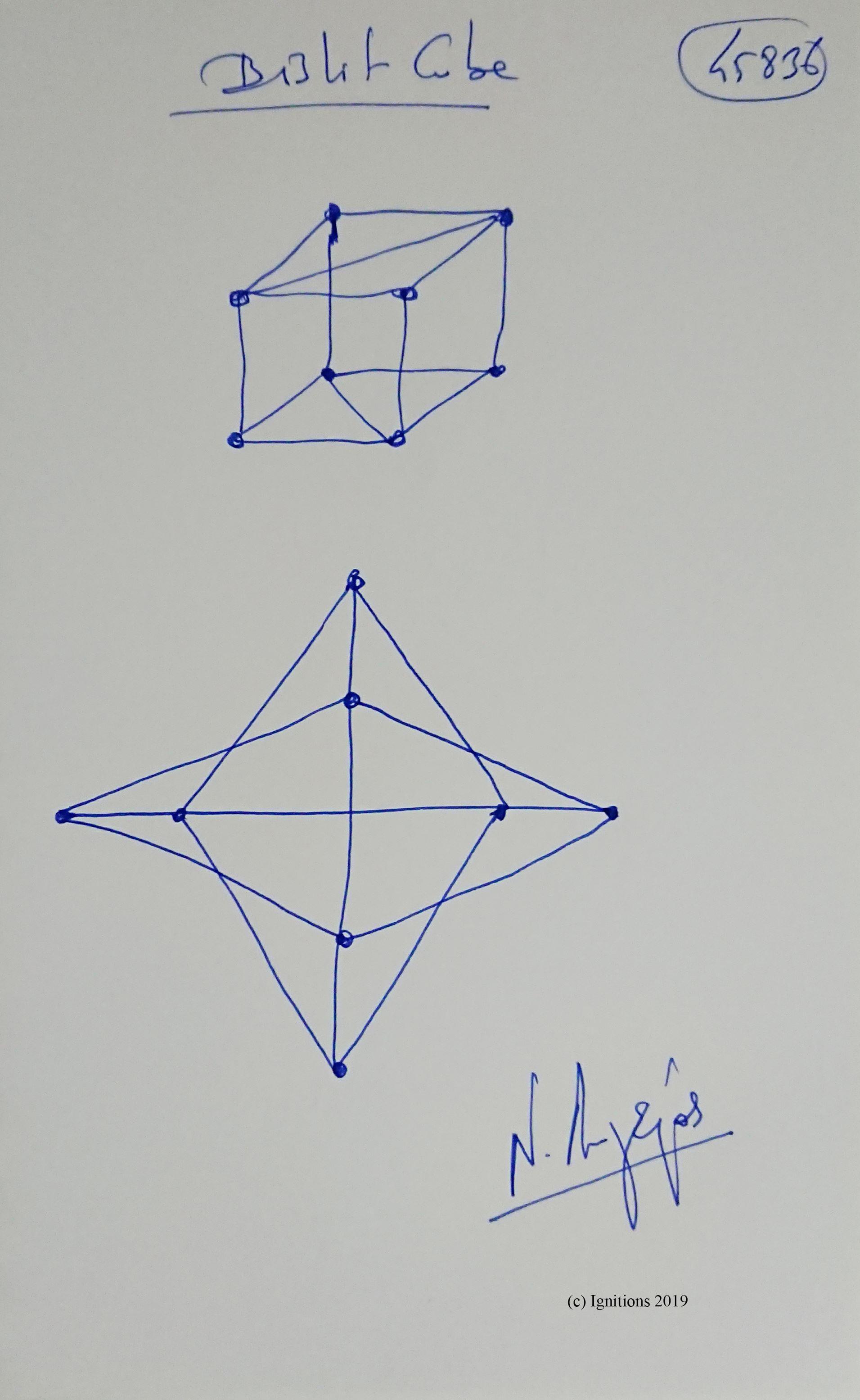 Bislit Cube. (Dessin)