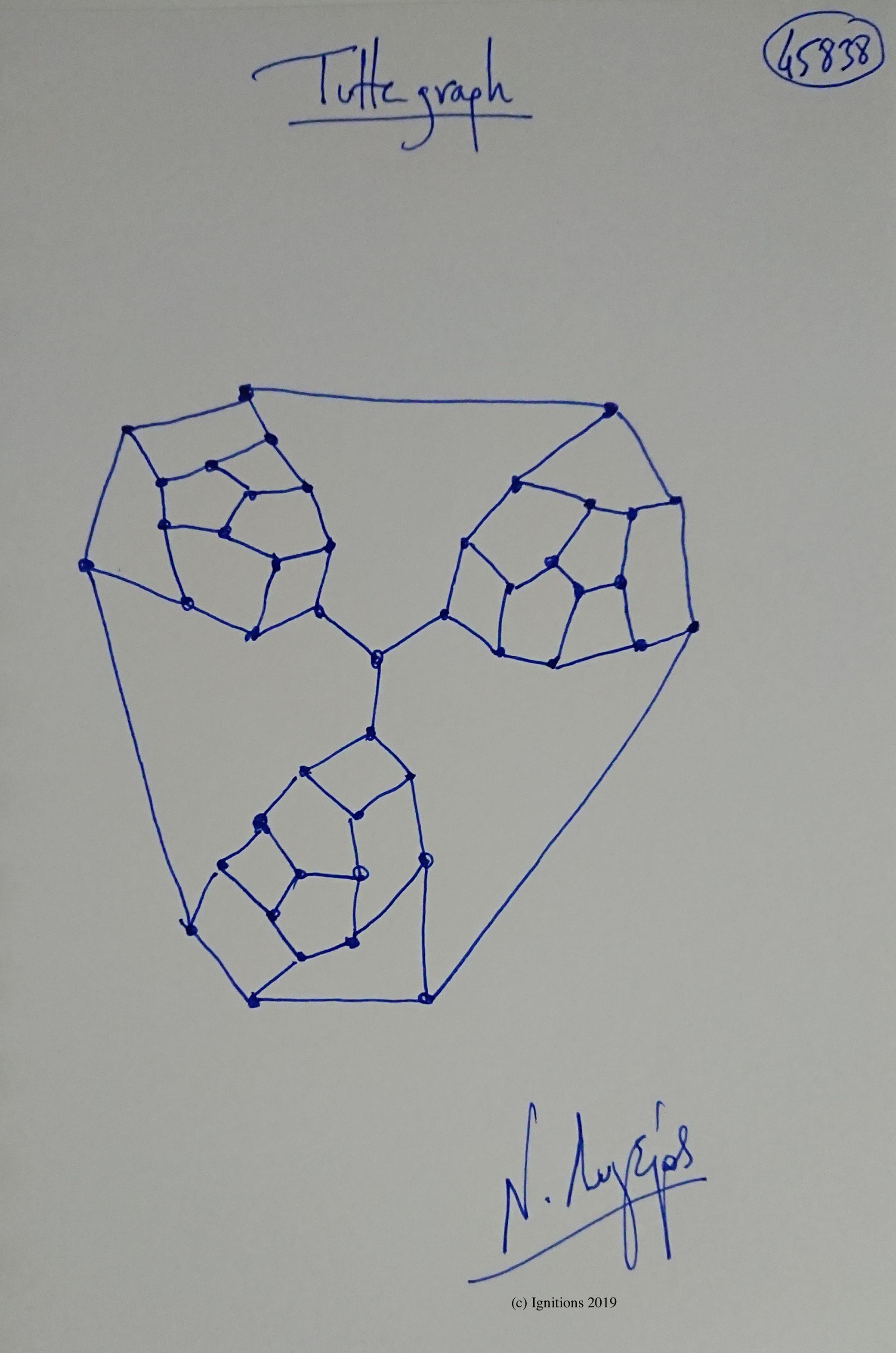 Tutte graph. (Dessin)