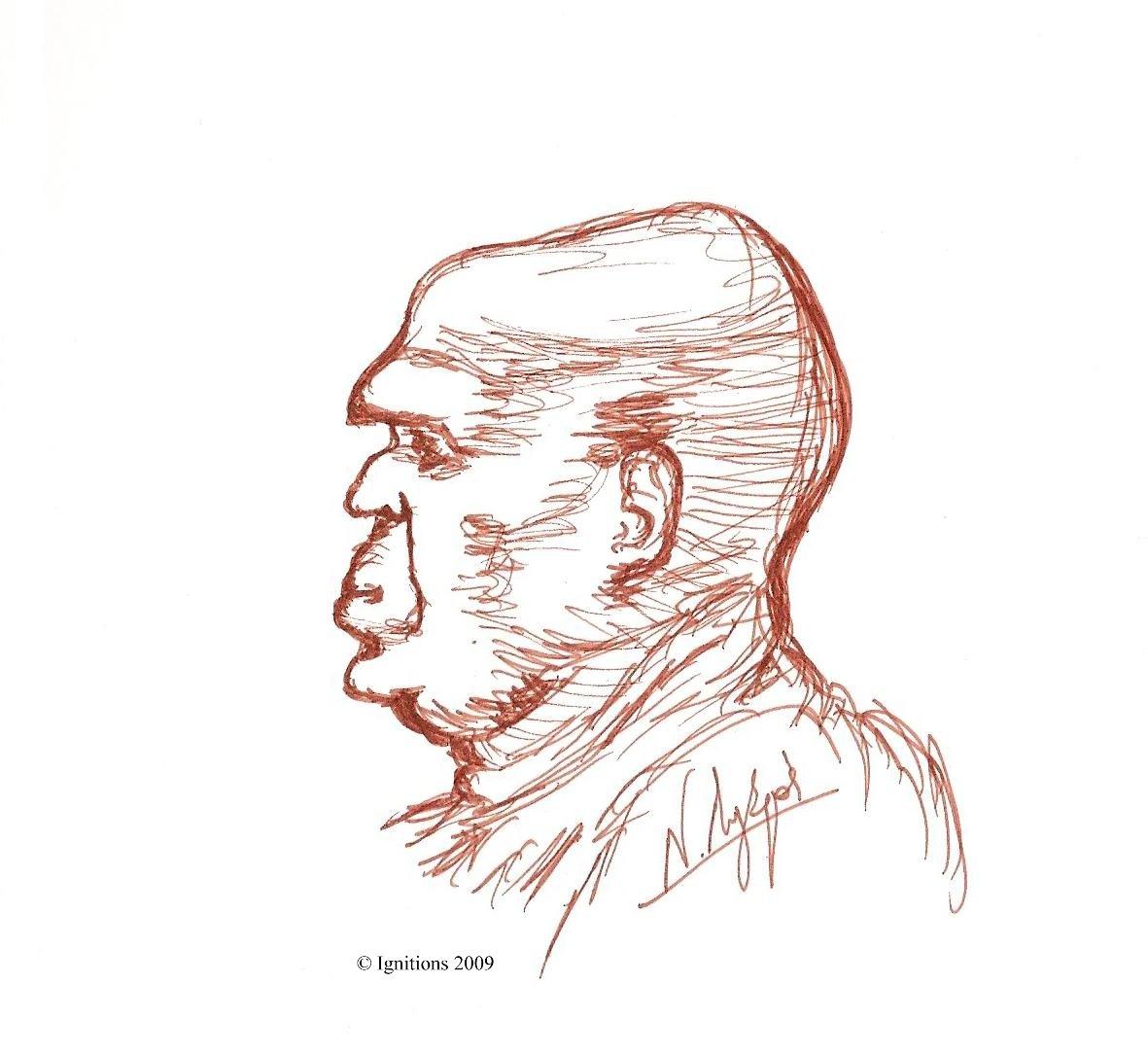 Caricature humaine de Leonardo da Vinci.