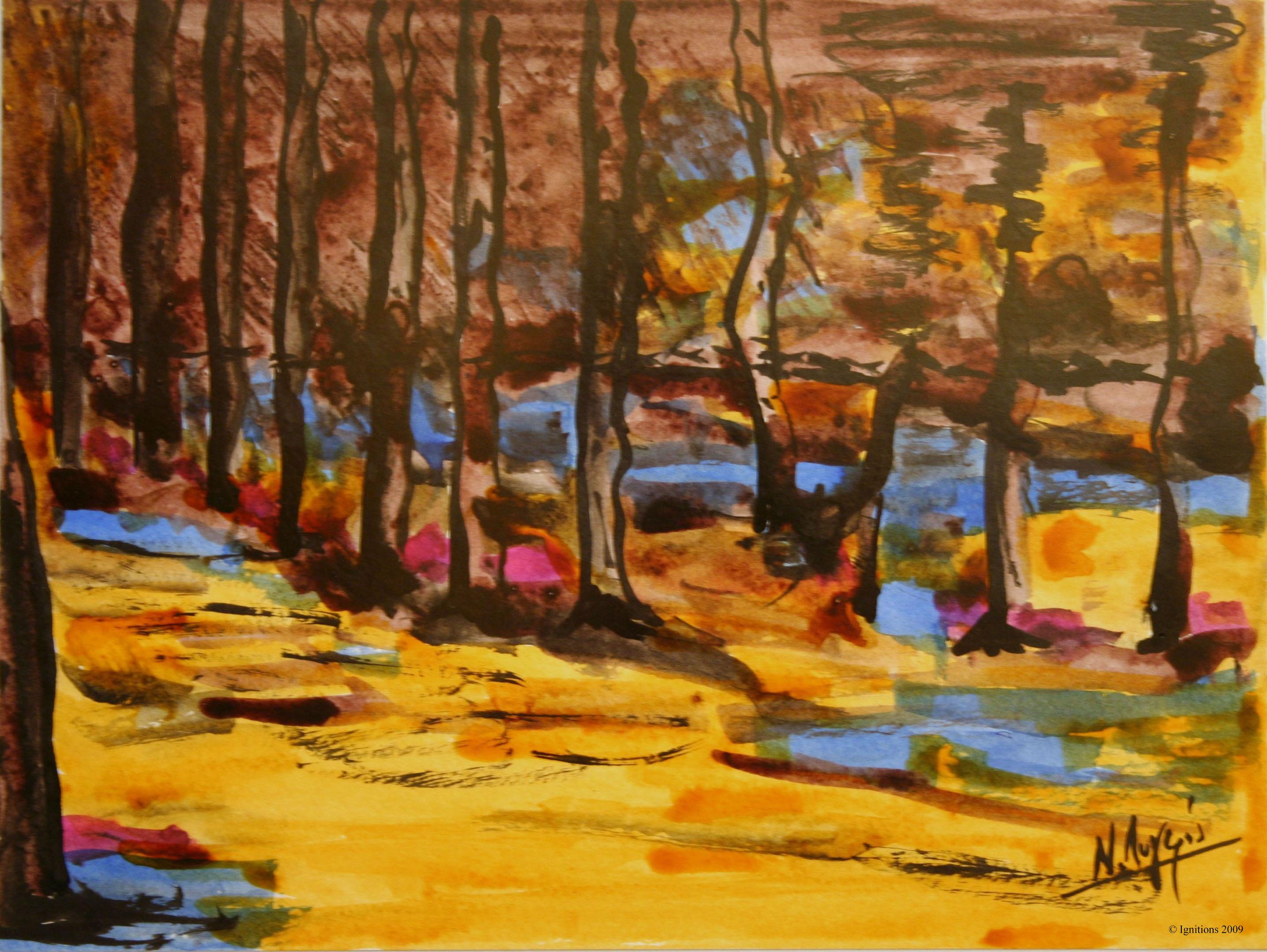 La lisière de la forêt de Vincent.