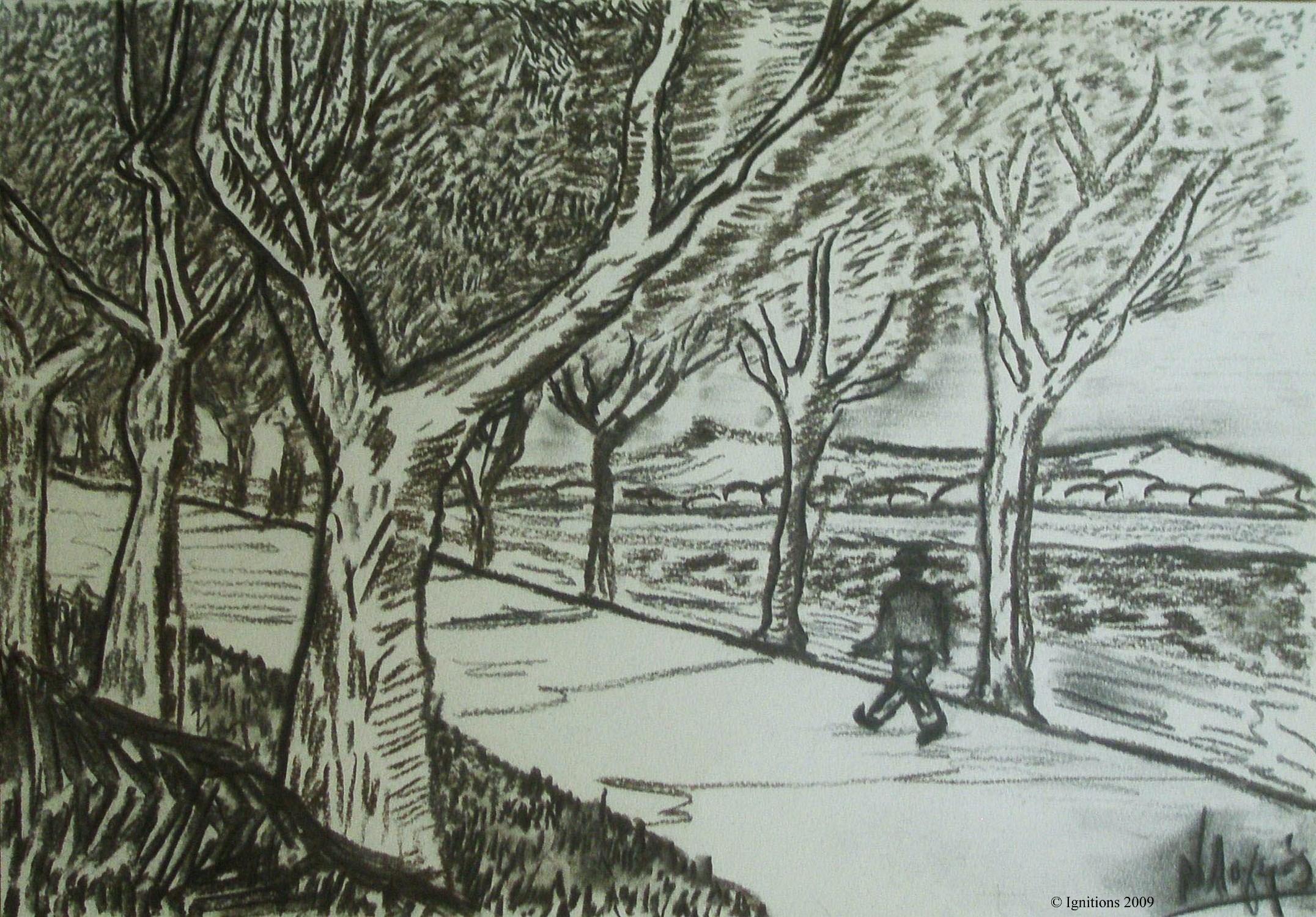 Sur la route de Tarascon d'après Vincent.