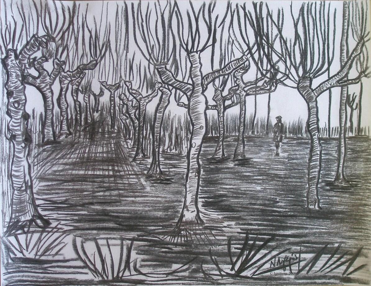 Les arbres et Vincent.