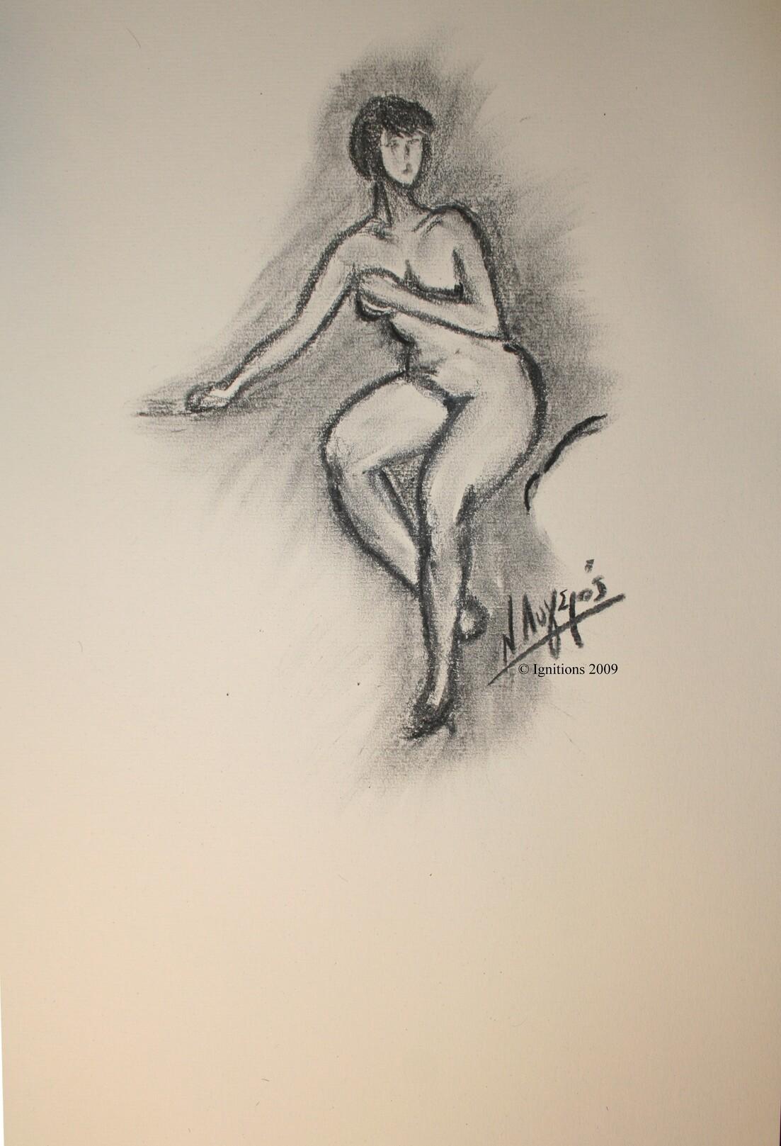 Jeune fille nue de Vincent.