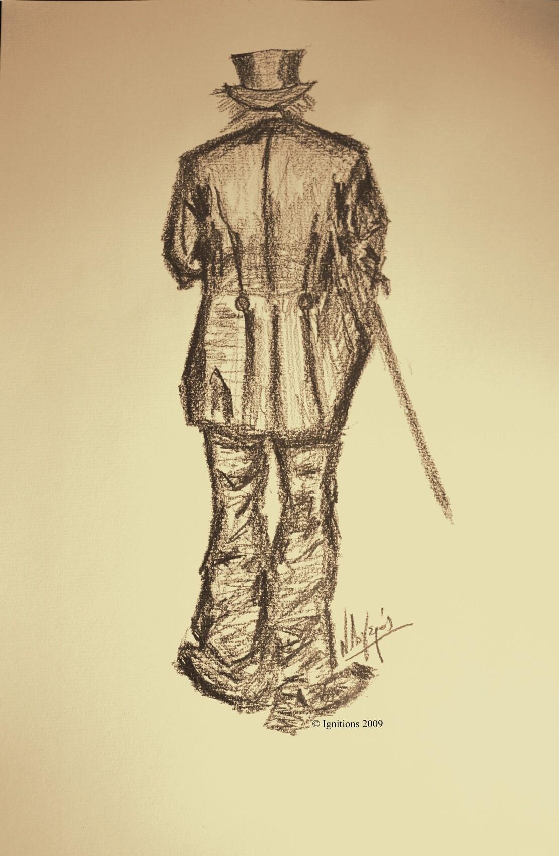 L'homme à la canne de Vincent.