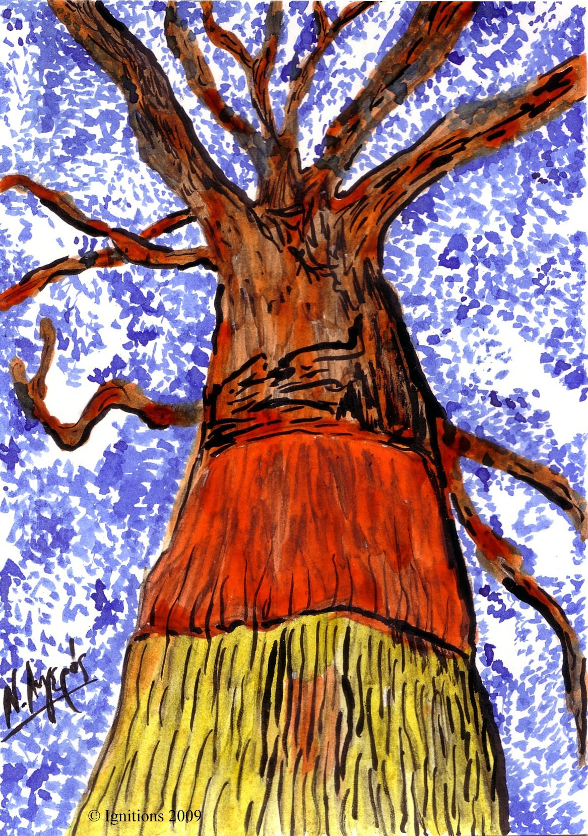 Le chêne d'azur et de sang.