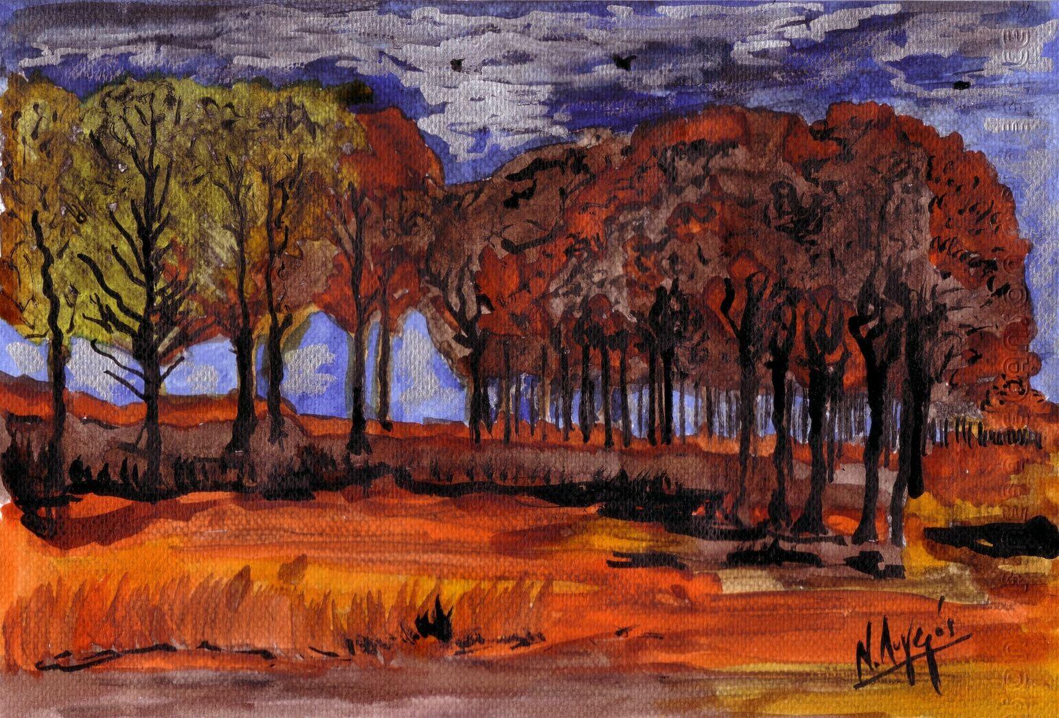 Paysage d'automne de Vincent.