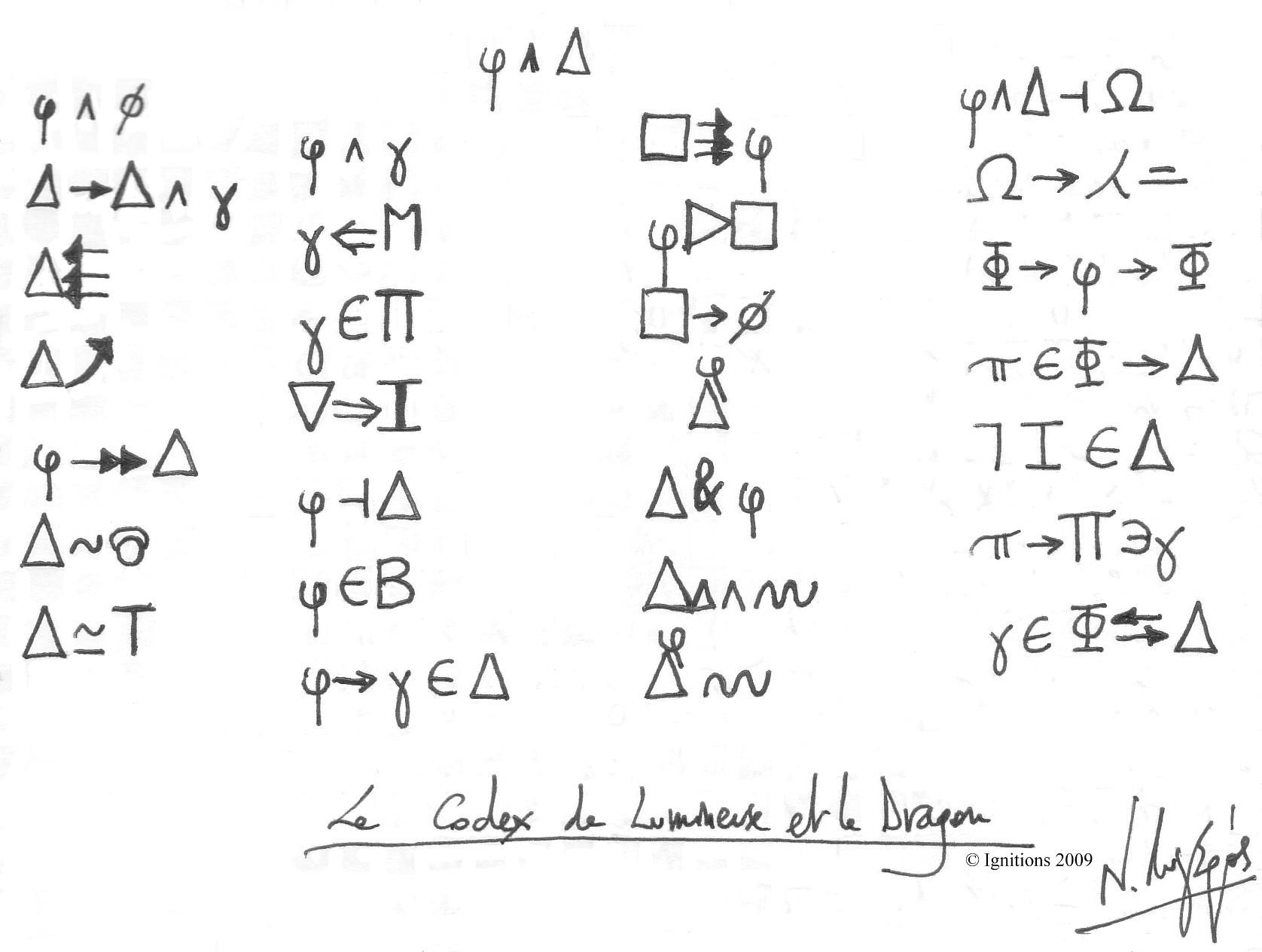 Le Codex de Lumineuse et le Dragon.
