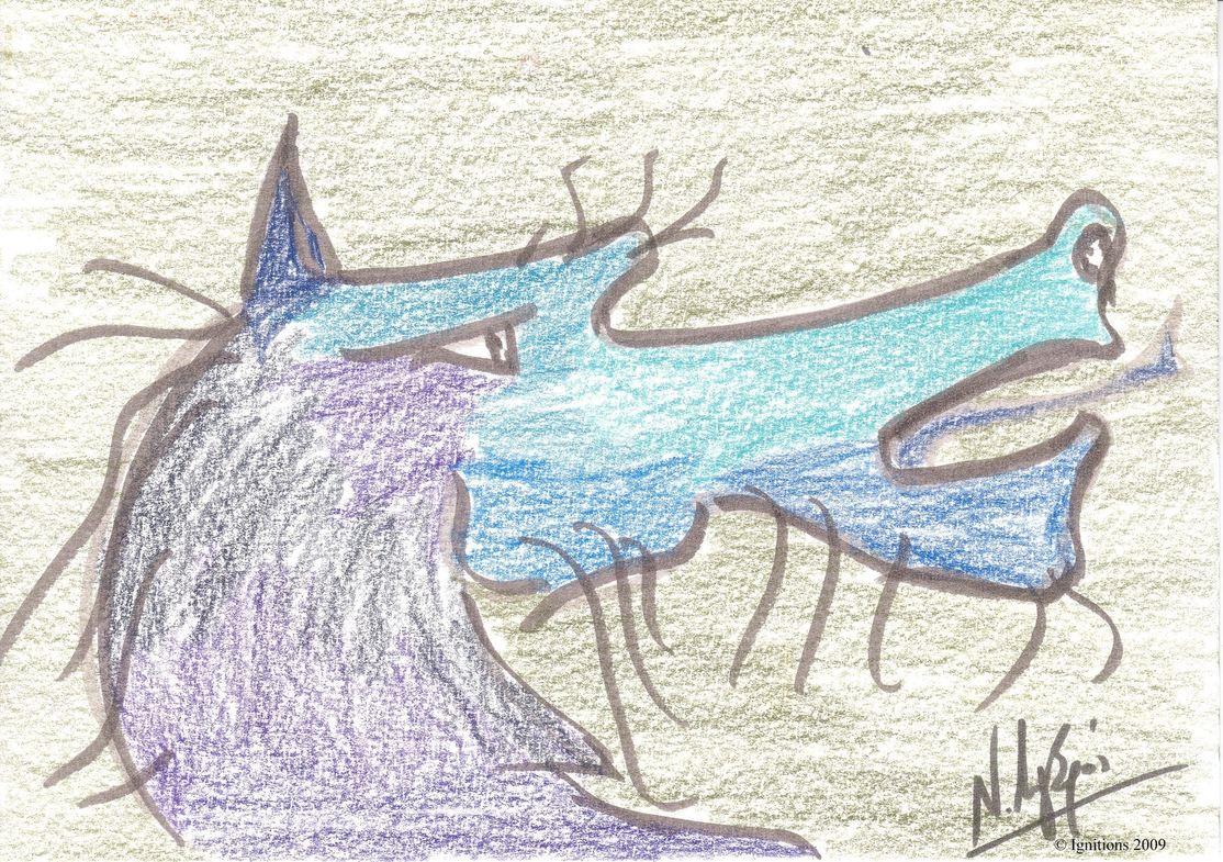 Etude 3 d'illustration pour Dragon.