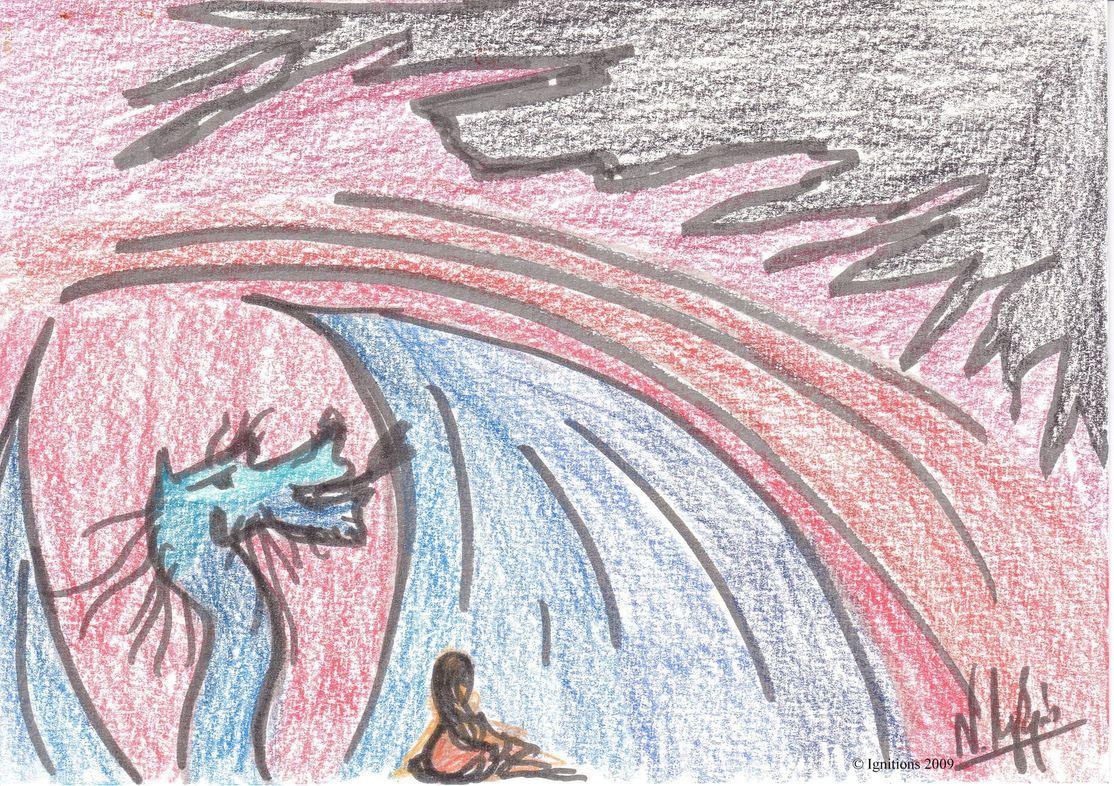 Etude 5 d'illustration pour Dragon.