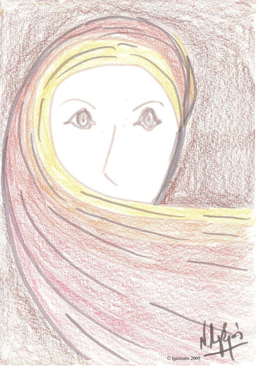 Etude 7 d'illustration de la grand-mère de Lumineuse.