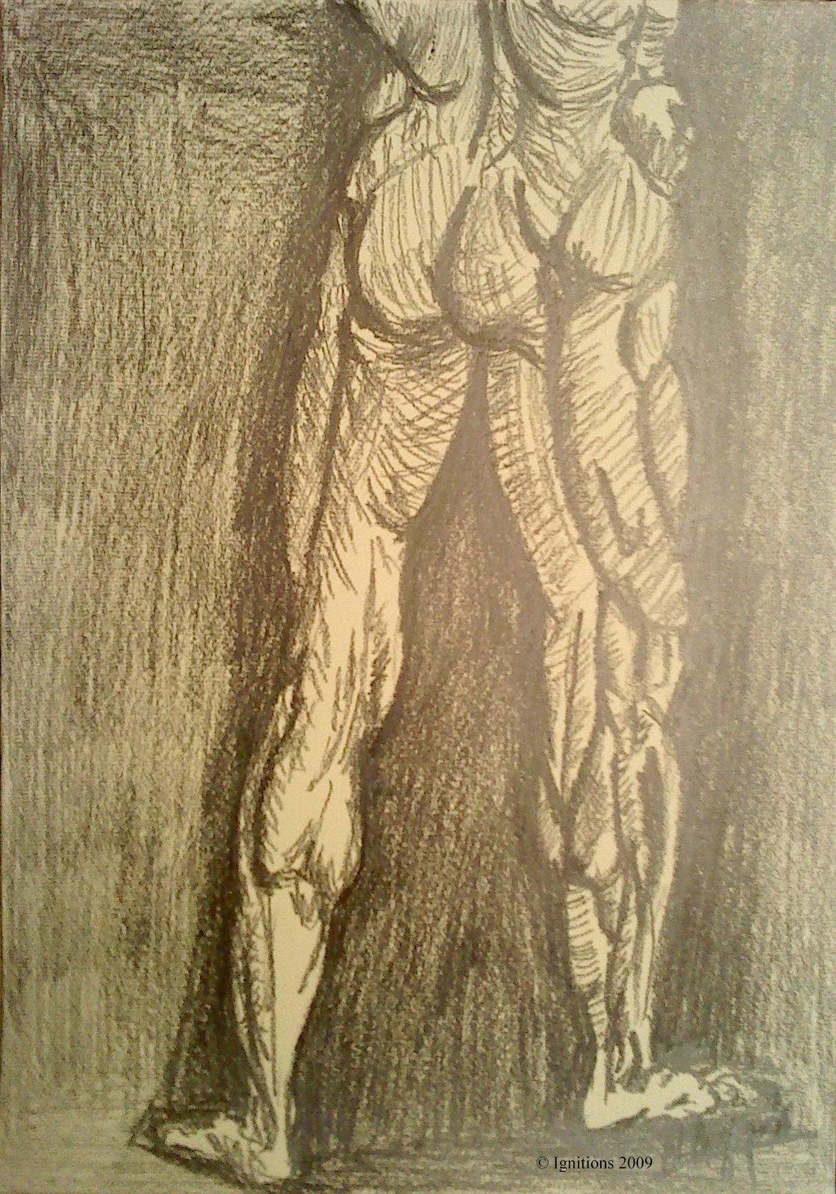 Etude d'un soldat nu de Leonardo da Vinci.