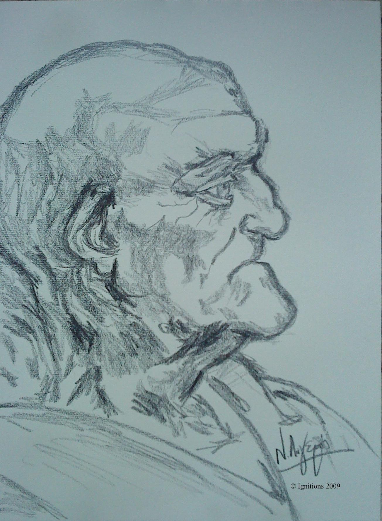 Vieillard de Leonardo da Vinci.