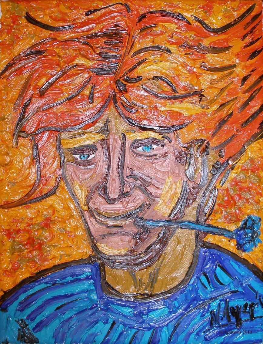 L'Homme au bleuet de Vincent.