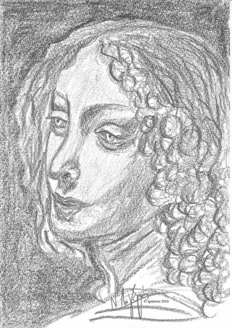 Un ange de Leonardo da Vinci.