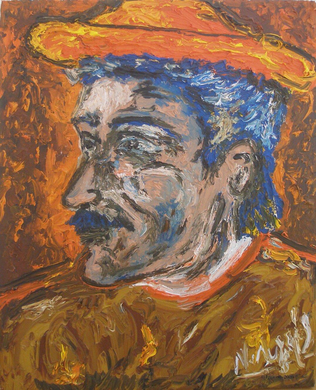 Tête d'un paysan de Vincent.