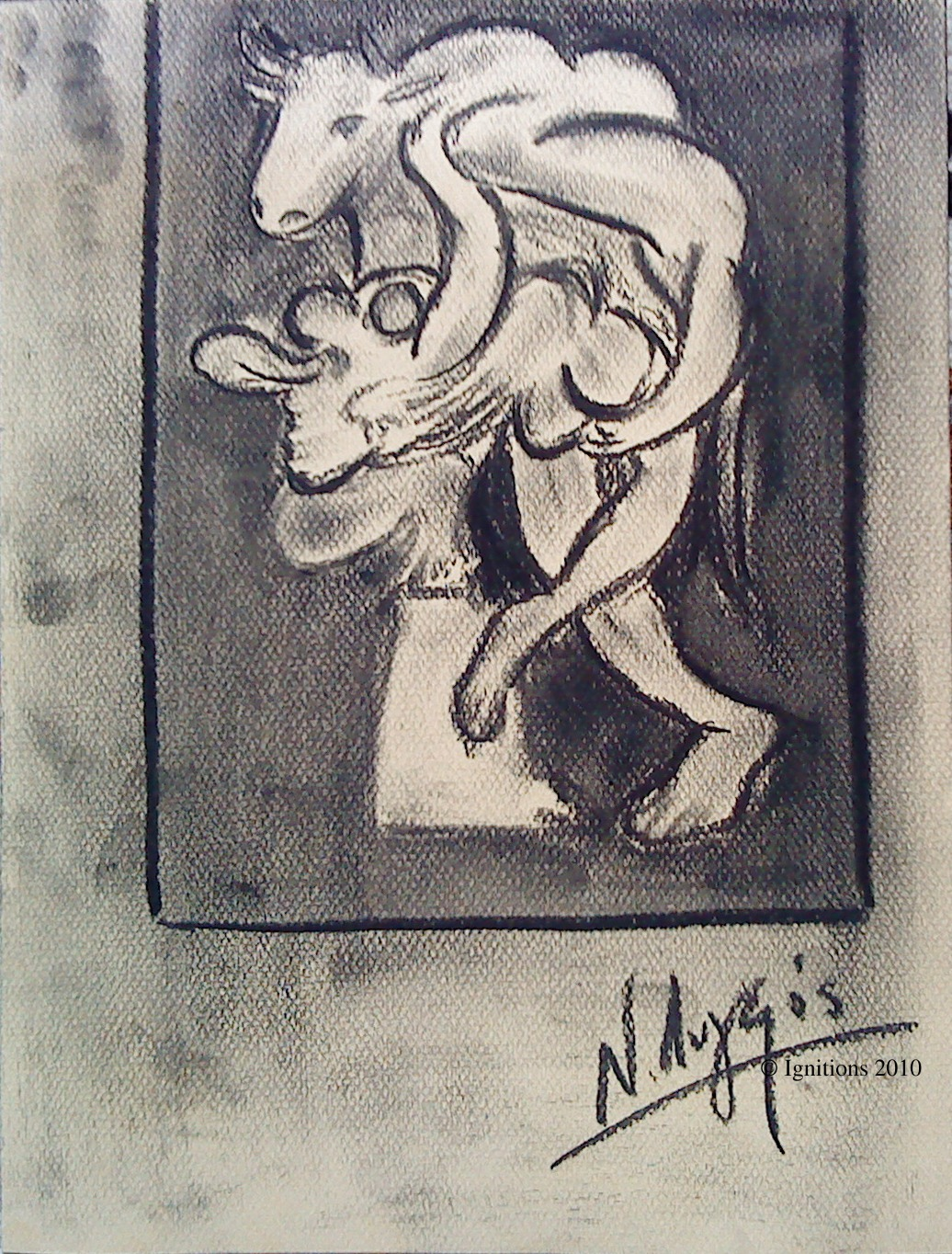 Minotaure et femme nue de Picasso I.