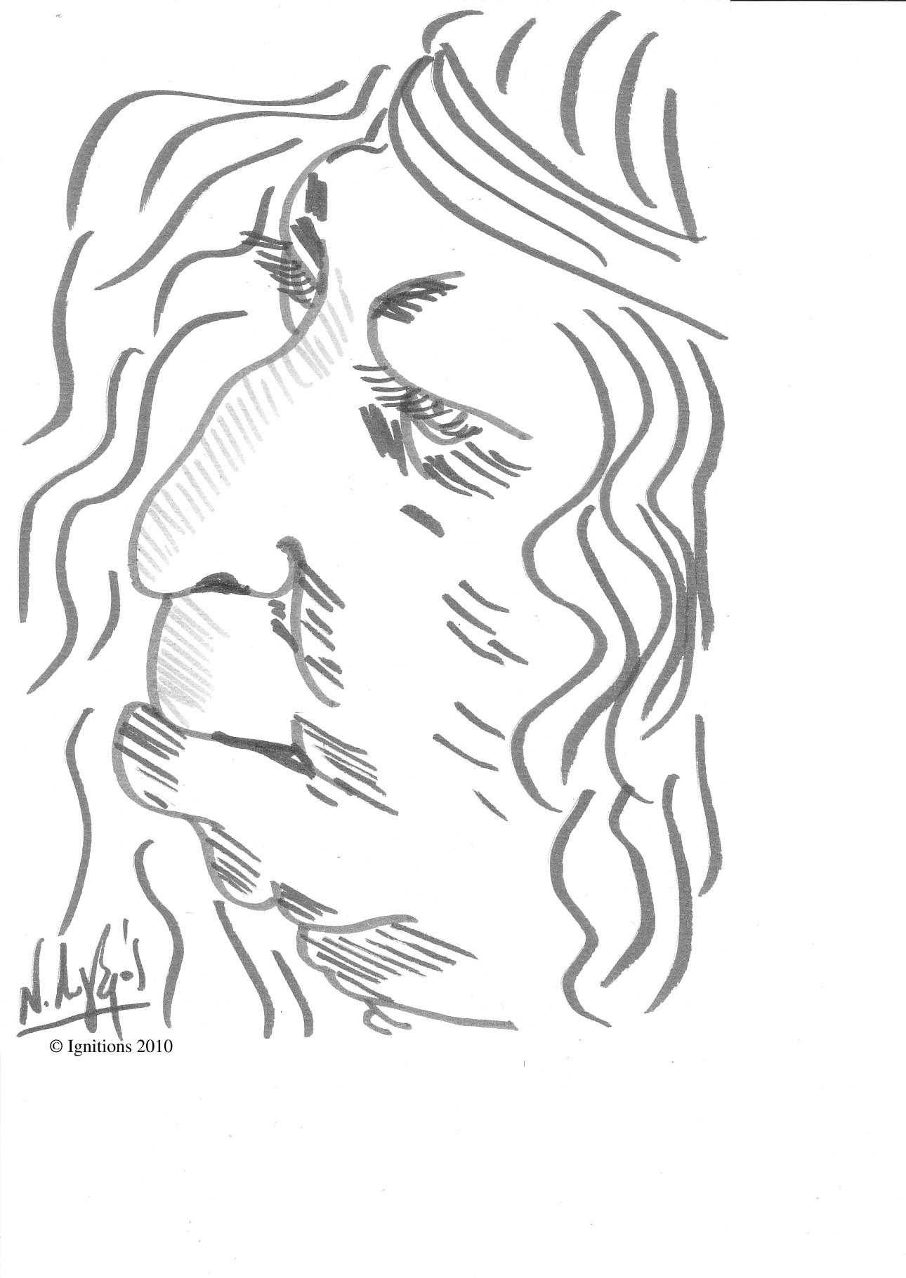 Etude de caractère de Leonardo da Vinci.