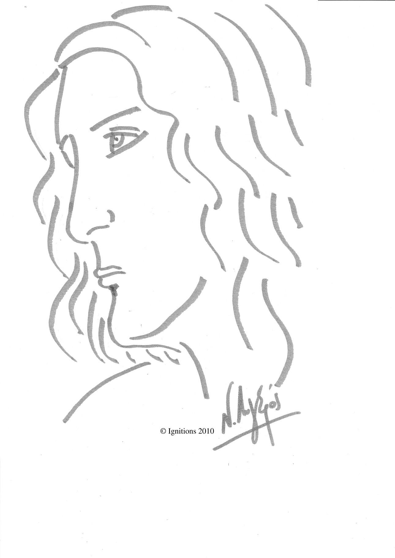 Etude de Philippe de Leonardo da Vinci.