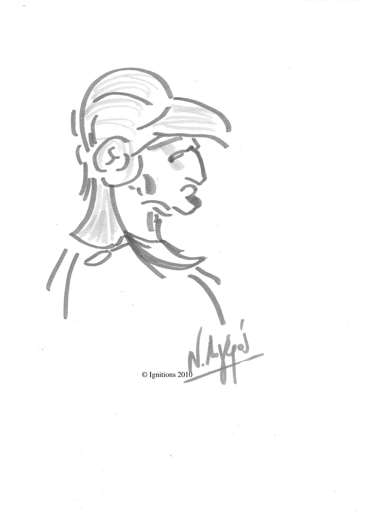 Profil d'un guerrier de Leonardo da Vinci.
