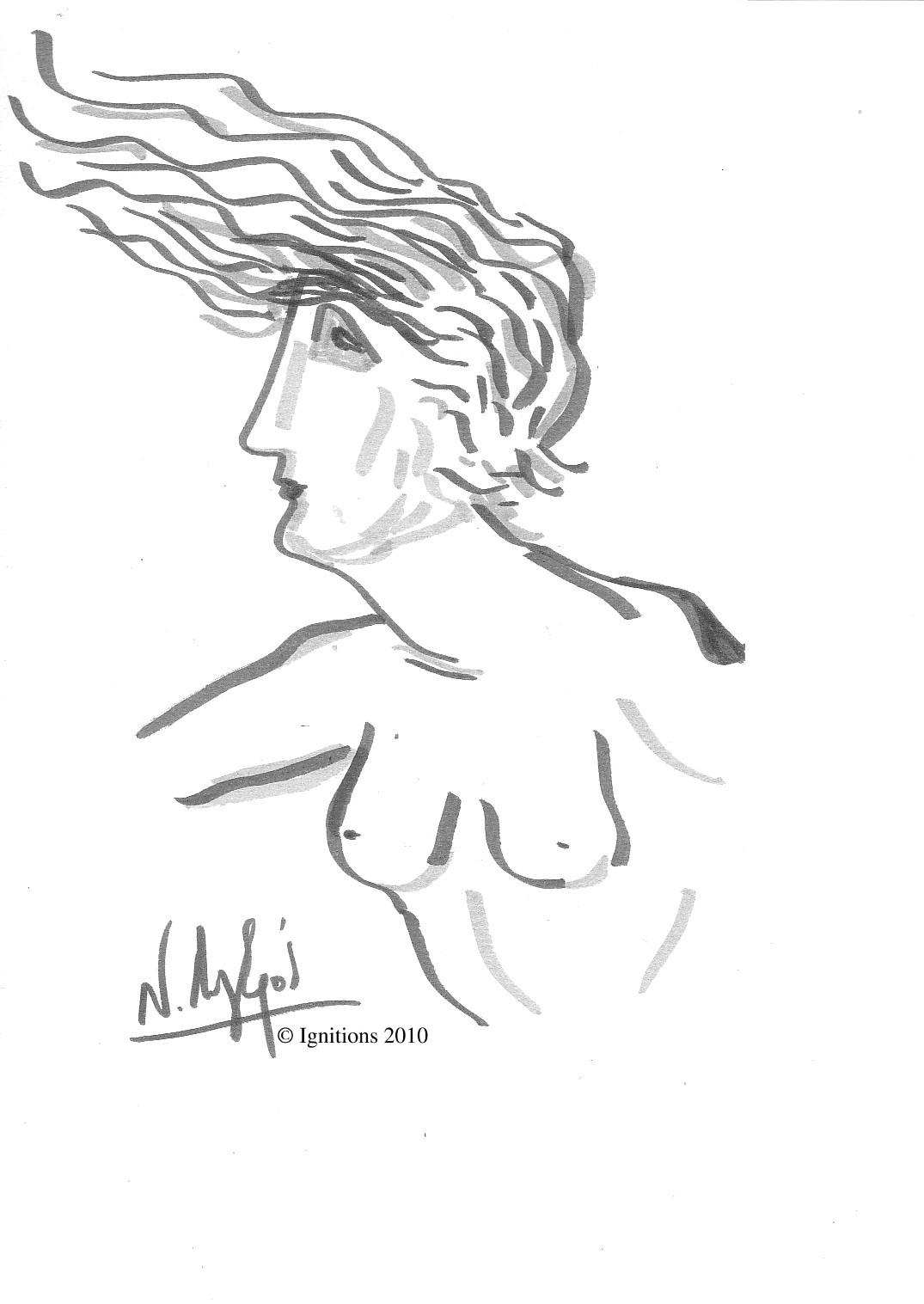 Représentation allégorique féminine de Leonardo da Vinci.