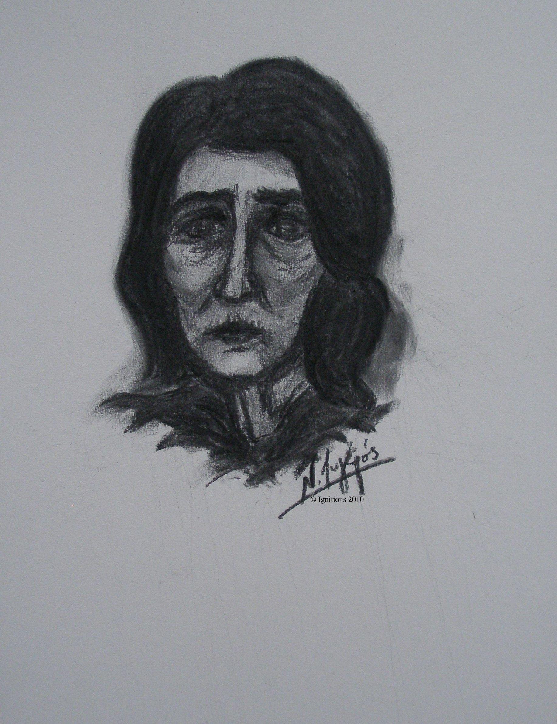 Etude pour portrait de dame.