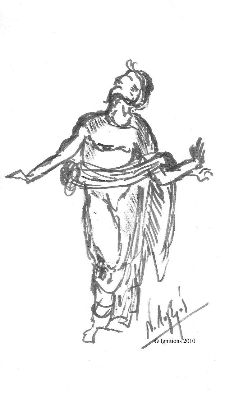 Etude I de figure de Leonardo da Vinci.