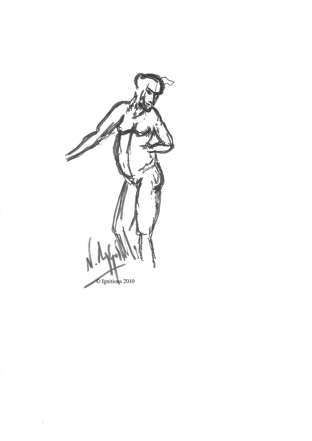 Etude II de figure de Leonardo da Vinci.