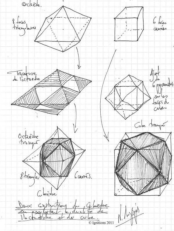 Deux constructions du cuboèdre en exploitant la dualité de l'octaèdre et du cube
