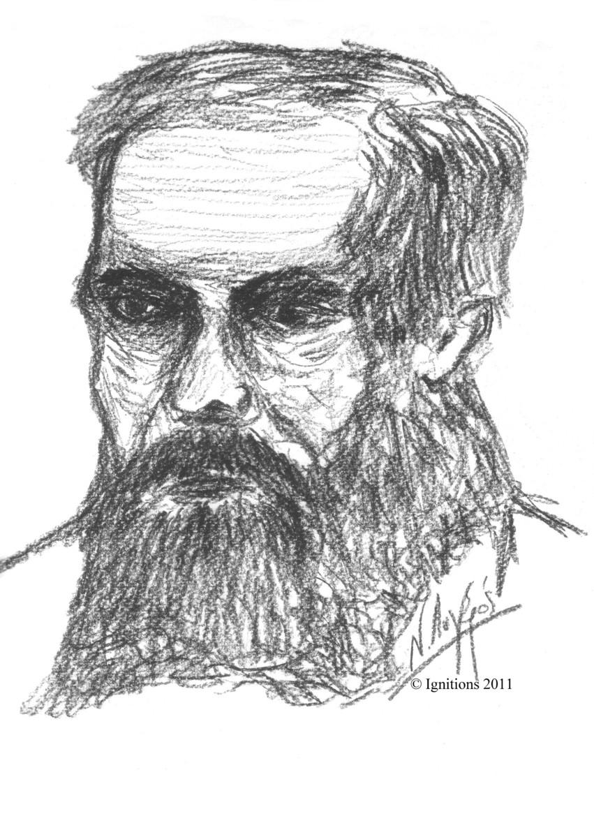 L'écrivain russe.