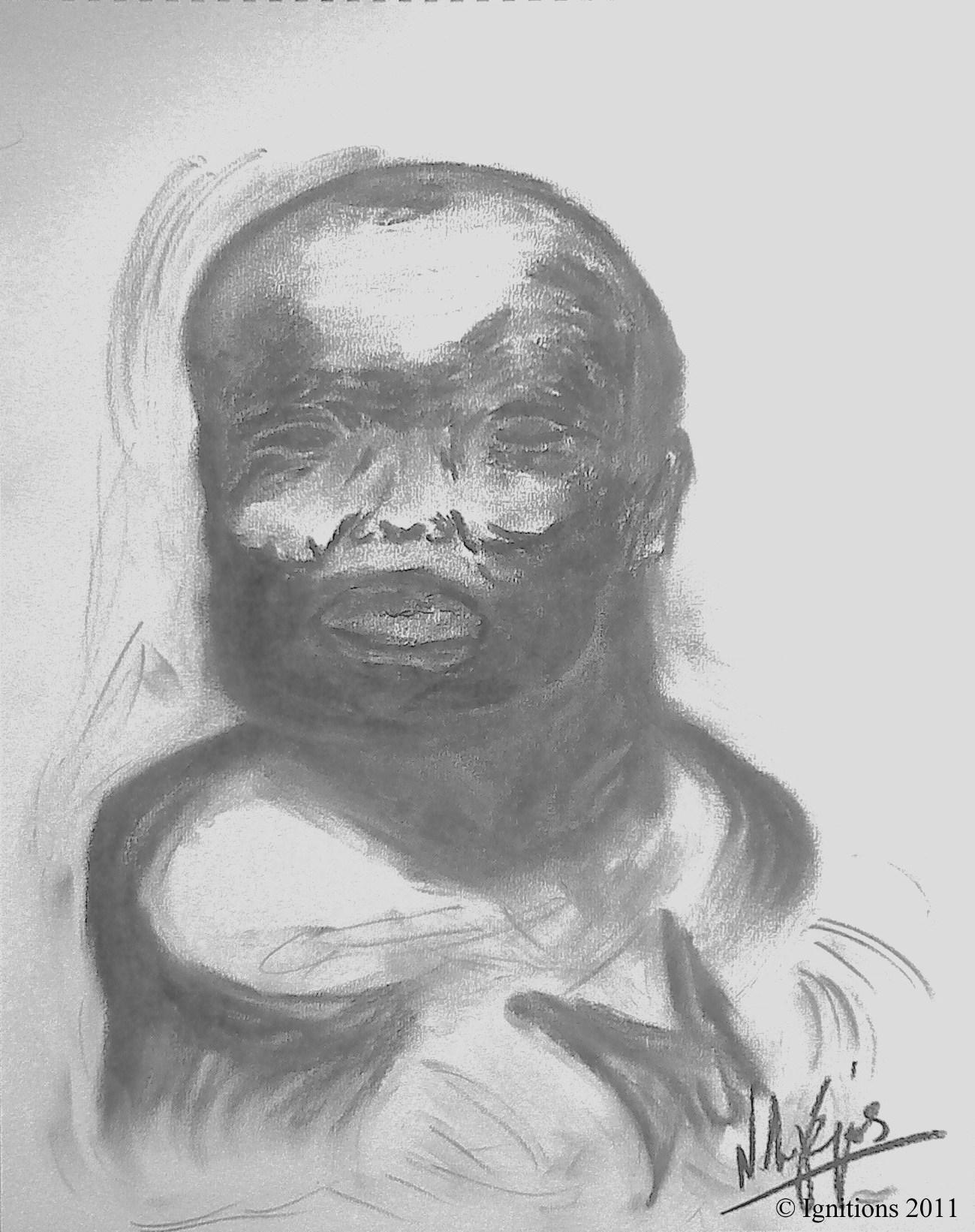 Bébé Hutu du Burundi.